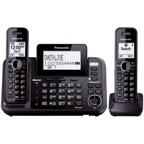 KXTG9552B Expandable, Digital Cordless Telephone