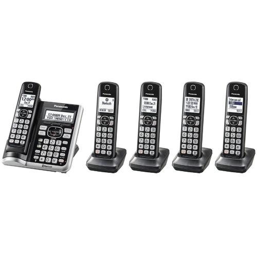 KXTGF575 Link2cell Cordless Phone W/ Answering Machine (5 Handsets)